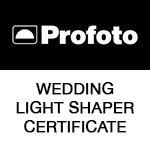 Certificato di professionista per l'uso della luce flash per i matrimoni e ritratti rilasciata da Profoto Italia - Grange srl